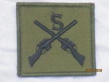 Sniper,Stoffabzeichen schwarz/oliv, gekreuzte Gewehre & S