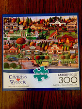 "NEW Charles Wysocki ""Labor Day In Bungalowville"" 300 Piece Buffalo Games Puzzle"