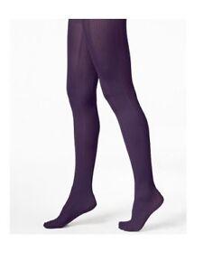 HUE Tights Control Top VARIEGATED STRIPE Aubergine Purple Size Small/Medium -NWT