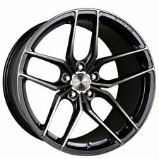 """4ea 18"""" Staggered Stance Wheels SF03 Gloss Black Tinted Machined Rims (S1)"""