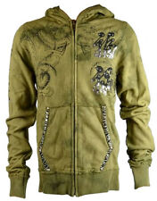 KEY CLOSET Zip Iconic Men's Hoody/Jacket with Tribal Bulls Print Army (KCTP001)