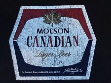 VINTAGE MOLSON CANADIAN LAGER BEER T SHIRT XL