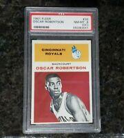 1961 PSA NR-MINT 8 OSCAR ROBERTSON FLEER BASKETBALL ROOKIE CARD RC #36 ROYALS
