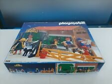 VTG 1985 Playmobil #3436 Riding School Stable Boxed With Loads Of Extras Shelf X