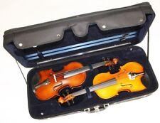 4/4 Geigenkoffer Geigenetui Geigenkasten für 2 Geigen