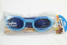 Doggles ILS Dog Goggles Large Blue Frame Lens Anti-Fog 100% UV Shatter Proof New