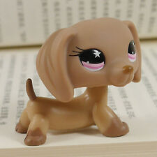 """Littlest pet shop 2"""" FIGURE TOY brown Dachshund dog LPS #932"""