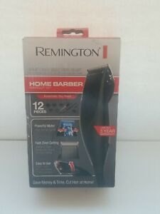 Remington Home Barber Haircut Kit Black Clippers 12 Pieces