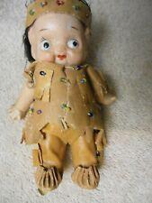 "4.5"" all bisque Japan Kewpie type Indian doll"