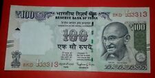 India Rs.100 Rupees Fancy No.333313 UNC Note