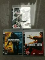 PS3 Bundle Action Shooters 3no Bourne Conspiracy Stranglehold Kane and Lynch