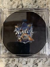 GAME USED 2018 WINTER CLASSIC PRACTICE PUCK New York Rangers Buffalo SABRES