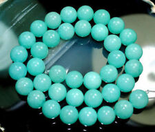 Natural 10mm Russian Blue Amazonite Gemstone Round Loose Beads 15'' Strand