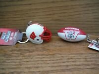 NCAA LICENSED PRODUCT - WISCONSIN BADGERS FOOTBALL  KEY CHAINS.