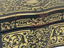 Coffret à Thé Marqueterie Boulle Epoque Napoléon III Antique French Box 19th