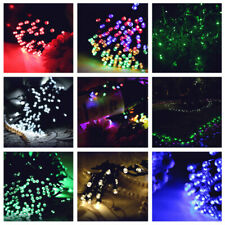 100/200/500 LED Solar Power Fairy Garden Lights String Outdoor Party Wedding UK