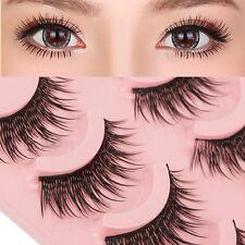 5 Pairs Natural Long Fake Eye Lashes Extension Handmade Thick False Eyelashes