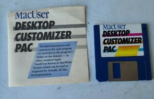 MACUSER DESKTOP CUSTOMIZER PAC- 15 FUN TOOLS for SYSTEM 6.0 & 7.0