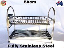 Dish Rack 2-Tier Stainless Steel Dish Drainer Rack.