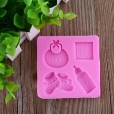 Baby Bottle Shoes Silicone Mould Cake Chocolate Candy Sweet Cookie Baking Mold&