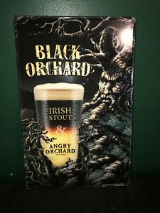 Angry Orchard Metal Sign Black Orchard