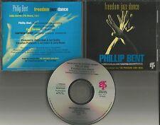 PHILLIP BENT Freedom Jazz dance ORIGINAL USA 1993 PROMO Radio DJ CD Single MINT