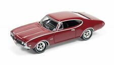 1969 Olds Cutlass 4-4-2 in rot,JL Johnny Lightning Muscle Cars Rel.2,1/64
