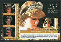 St Vincent & Grenadines 2017 MNH Princess Diana 20th Mem 4v M/S I Royalty Stamps