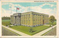 Municipal Building in Ellwood City PA Postcard 1939