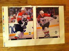 1992 Upper Deck uncut Card sheet Philadelphia Flyers ERIC LINDROS Steve Kasper