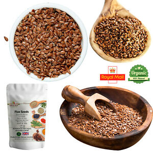 100% Natural Flax Seeds Linseed siemie lniane Pure Organic Brown Spices Free P&P