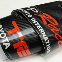 "For TOYOTA Windshield Carbon Fiber Vinyl Banner JDM TRD Racing Decal Sticker 53"""