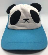 Panda Cap Hat Vblue Adjustable Adult 100% Cotton Flapping Ears