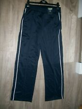 M& S LIMITED EDITION  SIZE 16 short PULL ON HIGH RISE JOGGERS NAVY WHITE