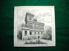 A Roma nel 1884 - il villino Siemiradsky, dell'architetto Azzurri