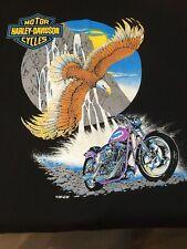VINTAGE 1980s HARLEY-DAVIDSON MADE IN USA FUN WEAR INC. MEN'S LARGE T-SHIRT!