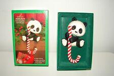 Vintage Hallmark Panda Bear Stocking Hanger in Original Box Adorable!