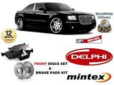 Para Chrysler 300c 3.0 Dt CRD 3,5 5,7 2005 - & gt Freno Delantero Discos Set + Almohadillas De Disco Kit
