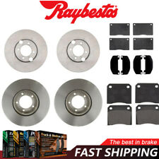 DIMPLED SLOTTED FRONT BRAKE ROTORS+PADS for Jaguar XJS 4.0L 5.3L 1987-95 RDA76D