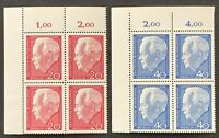 West Germany. Re Election of Pres Lubke in BLOCK. SG1342/43. 1964. MNH. (MSC652)