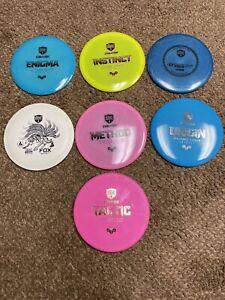 7-used discmania disc golf discs