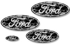 Front,Rear,Steering Wheel Decals Sticker Oval Overlay For Ford Explorer GREY SK