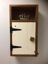 Rustic Cupboard Unit Kitchen Bathroom Wall Vintage antique handmade Cabinet
