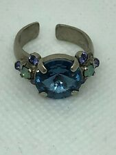 Sorrelli Blue Crystal Adjustable Ring - Absolutely Stunning!