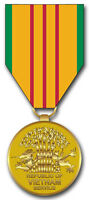 "Vietnam Service Medal 5.5"" Window Sticker Decal"