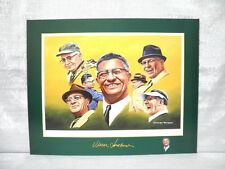 Super Bowl Champion Vince Lombardi Green Bay Packers George Wright Lithograph