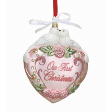 Reed Barton Blown Glass Christmas Ornament Our 1st Christmas New Gift Boxed