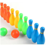 11cm Height Kids Plastic Bowling Set Outdoor Mini Educational Toys H ti