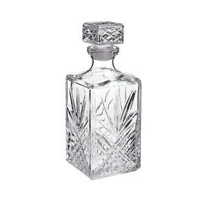 Bormioli Rocco Selecta 1 Litre Glass Whiskey Decanter Liquor Brandy Wine Jar