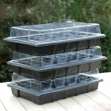 More details for thompson & morgan 40 cell propagator plant seed cuttings growing trays clear lid